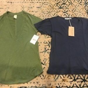 2 Small Deep V Tee's Free People / Project Social